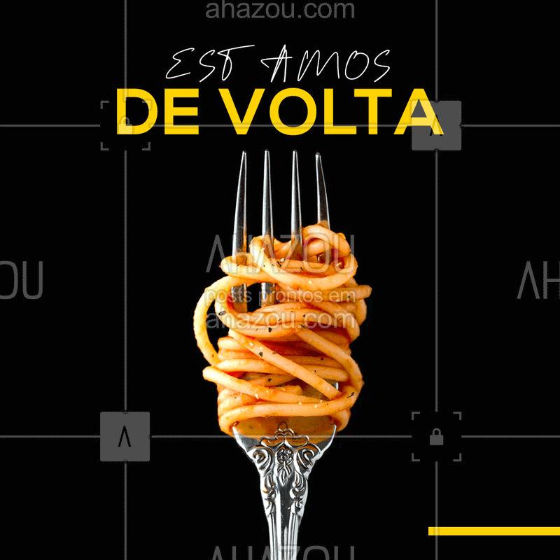 Estamos de volta, depois dessa breve pausa.  ????? #cozinhaitaliana  #ahazou #expresso #ahazoutaste #taste #tastedemais #bandbeauty