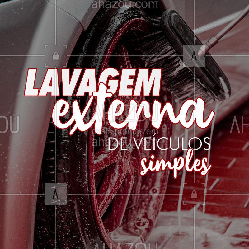 Fazemos lavagem externa simples do seu veículo a partir de:  Aproveite nosso preço especial!  #Lavagem #AhazouAuto #Simples