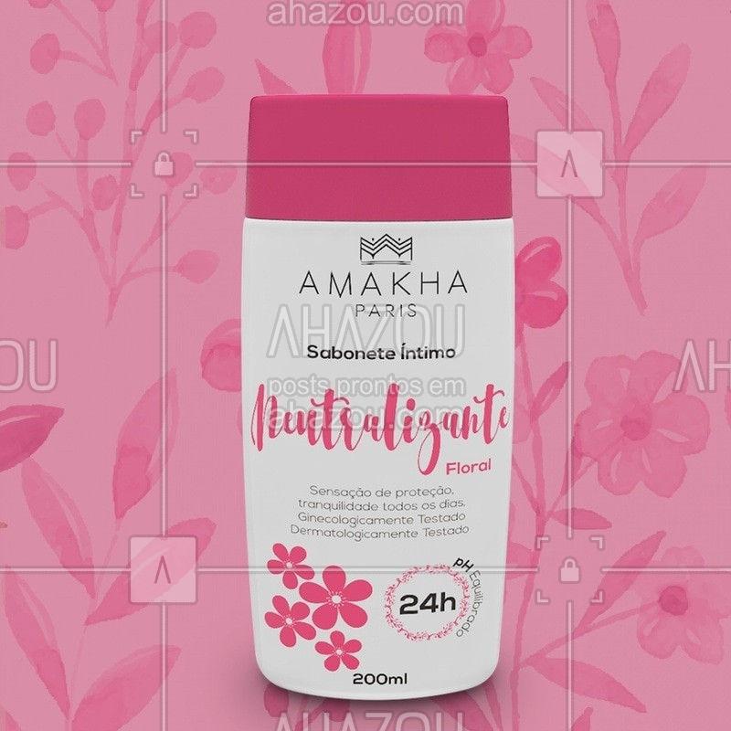 O Sabonete Íntimo da Amakha Paris foi pensado para proporcionar uma sensação agradável de conforto e limpeza, além de neutralizar possíveis odores e equilibrar o PH da região íntima. Esse produto foi ginecologicamente testado e pode ser utilizado por homens e mulheres⠀ Com a fragrância Floral você se sente mais protegido e com tranquilidade todos os dias. #ahazourevenda #ahazouamakha