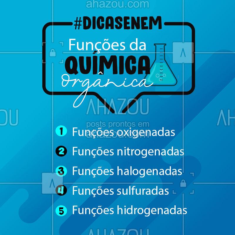 Você já estudou todas as funções da química orgânica? ?? #DicasEnem #QuimicaOrganica #AhazouEdu #Quimica #Vestibulares