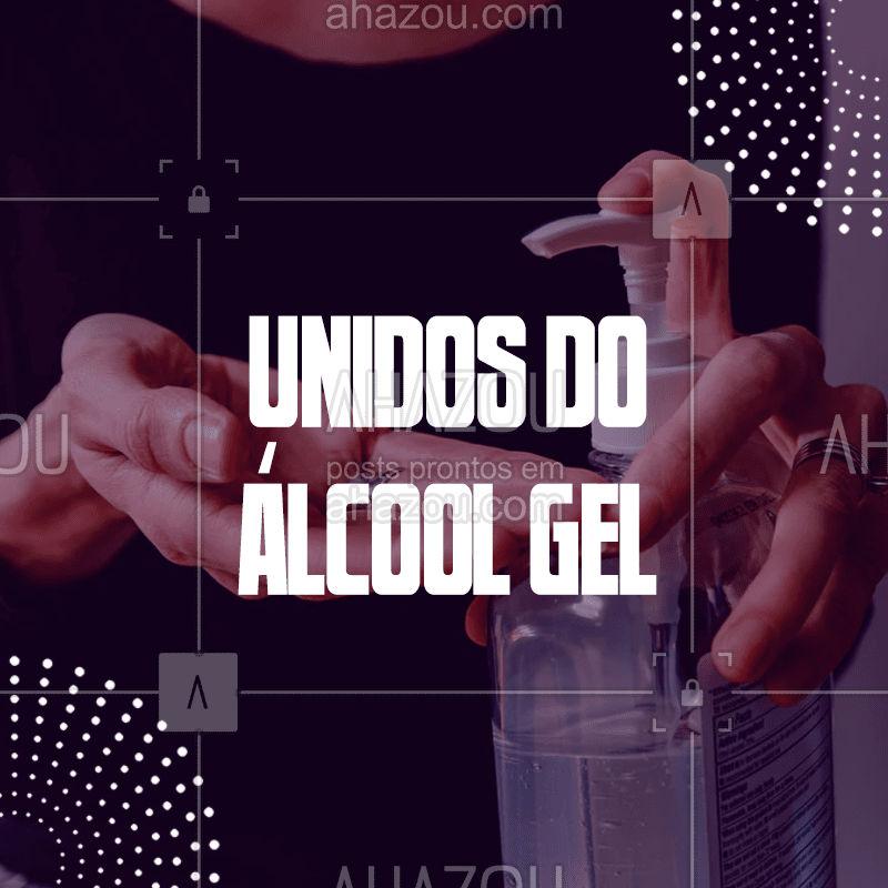Aqui somos unidos do ácool gel, usamos álcool gel sempre que possível para manter nossas mãos sempre longe de contaminações. ??  #COVID-19 #coronavírus #corona #prevenção #ahazousaúde #idosos #grupoderisco