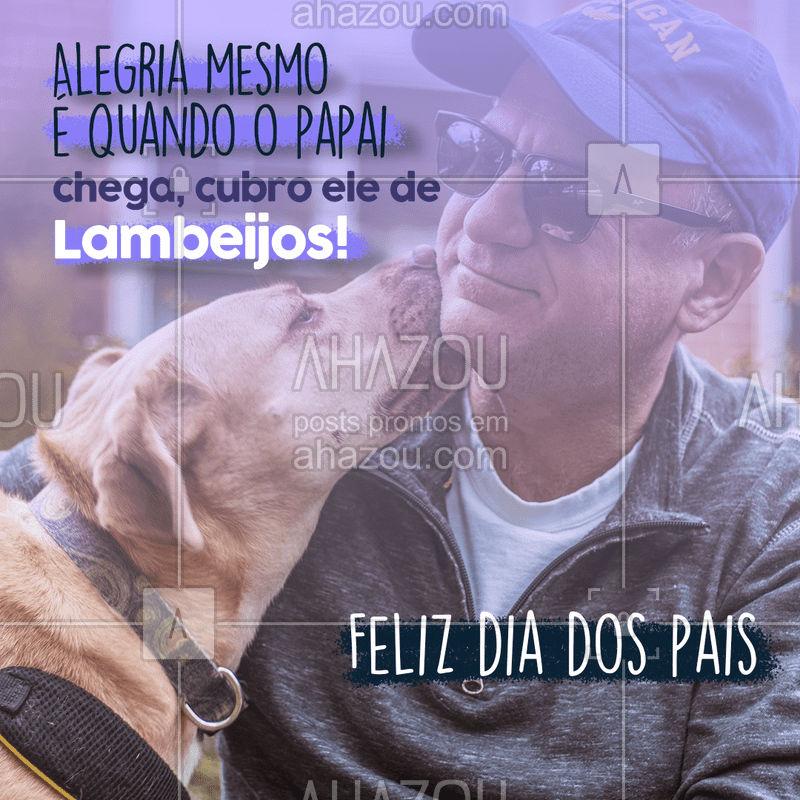 Obrigado papai por me dar tanto amor e muitos mimos. ❤ Feliz dia dos pais para os pais de pet! ? #AhazouPet #dogsofinstagram #petlovers #petsofinstagram #dogs #cats #ilovepets #AhazouPet