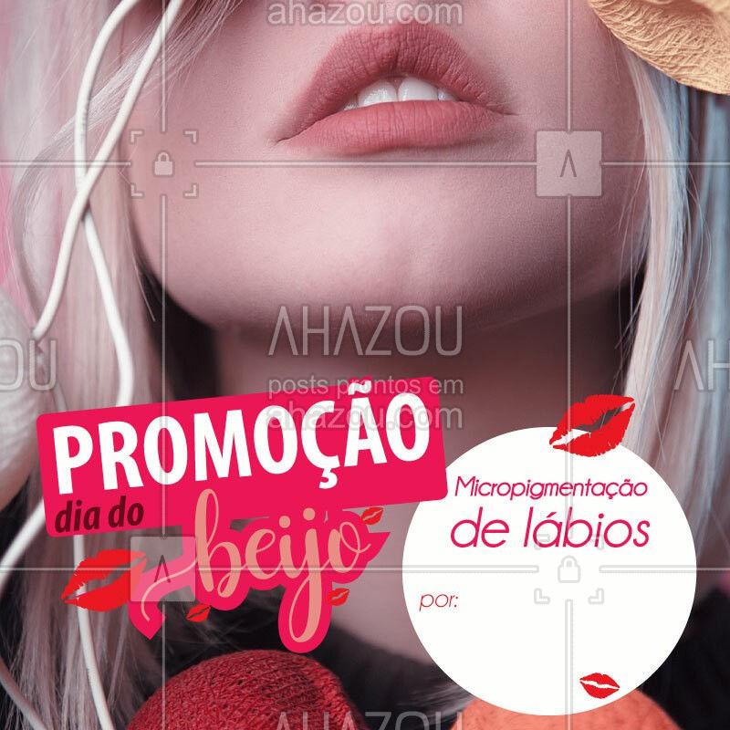 Aproveitamos o dia do beijo para lançar essa super promoção! Ligue e agende agora mesmo sua sessão. Mas, atenção, a promoção é somente válida até o dia 13 de abril. Dia oficial do beijo! #diadobeijo #beijo #beijinho #beijoca #beijao #ahazou #microblanding #babylips #micropigmentacaolabial #micropigmentacaodelabios #kiss #kisses #kisser #promocao #lips #braziliangal #estetica #labios #boca