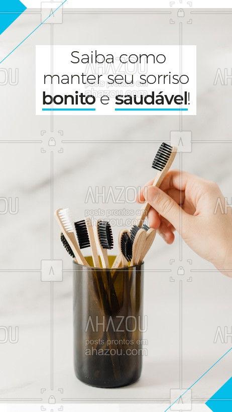 A manutenção em casa é essencial para manter sua saúde bucal em dia. Escove seus dentes durante 2 a 3 minutos, use escovas de qualidade, não escove com força, passe sempre o fio dental e escove os dentes sempre após as refeições. Além das visitas regulares ao dentista, para prevenir doenças. Agende seu horário e venha nos visitar. #odontologia #odonto #saúde #AhazouSaude #saudebucal #sorriso #saudável #bemestar