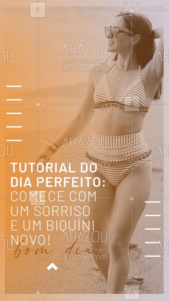 Esse tutorial é perfeito para você aplicar nos seus dias! Se precisar de ajuda para escolher o modelo que vai te fazer sorrir, é só chamar!  #AhazouFashion #bomdia  #modapraia #praia #moda #fashion