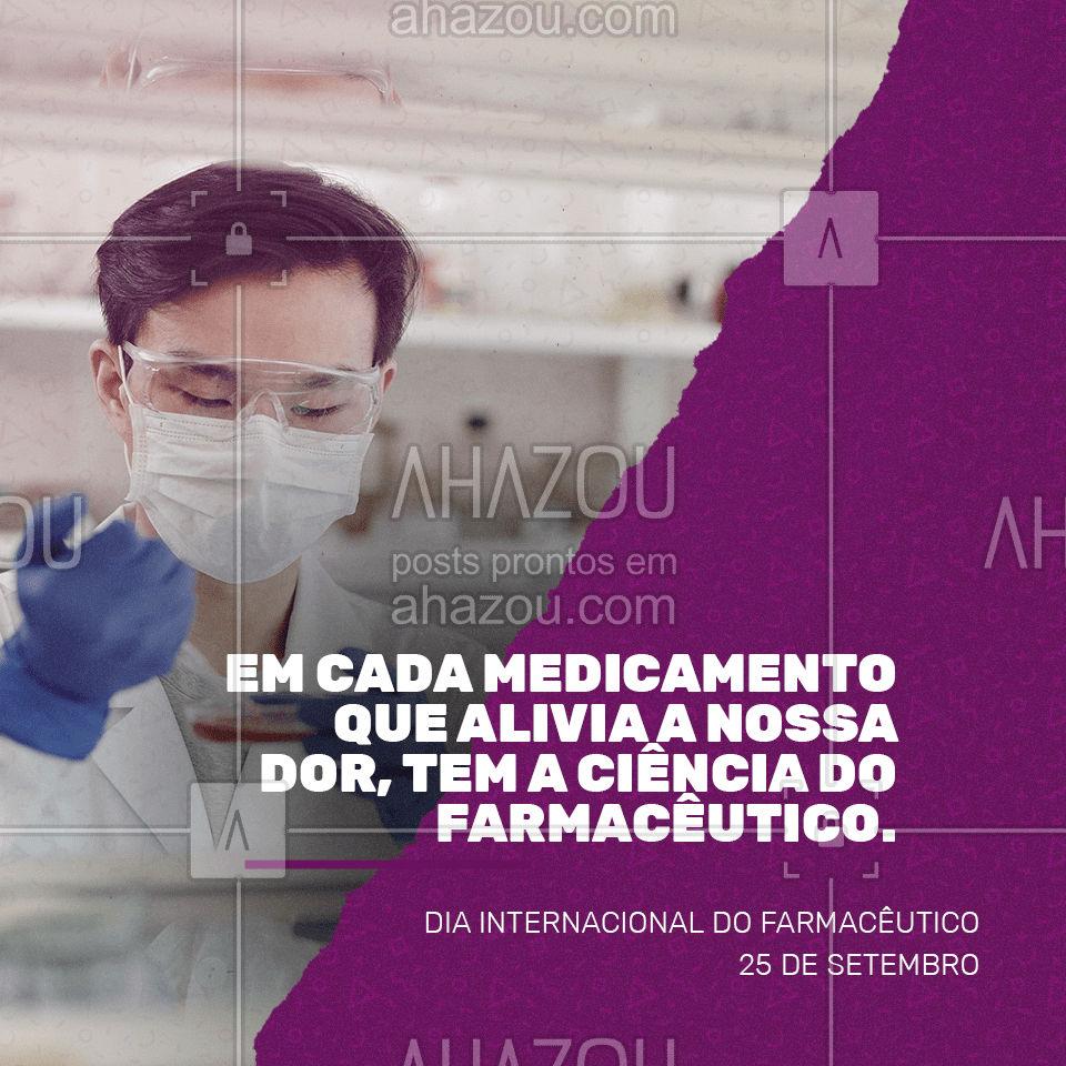 Parabéns a todos os profissionais que nos oferecem alívio e qualidade de vida. Parabéns pelo seu dia! Feliz Dia Internacional do Farmacêutico!?? #diainternacionaldofarmacêutico #farmacêutico #farmácia #remédio #diadofarmacêutico #medicamentos #AhazouSaude #viverbem  #qualidadedevida  #bemestar  #cuidese  #saude