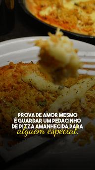 Marque aqui aquela pessoa que sempre guarda um pedacinho pra você! 😍🍕 #pizza #pizzaamanhecida #ahazoutaste #pizzalife  #pizzalovers  #pizzaria