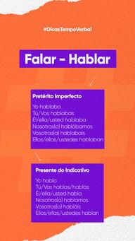 🔸Presente do Indicativo: Corresponde a ações realizadas como hábito, frequentemente. 🔸Pretérito Imperfecto: É encarregado do passado. Contudo a ação realizada era, antes, habitual. E, agora, pode continuar até o presente.   Agora que você tem essas dicas básicas já pode arrasar no espanhol!😉 #AhazouEdu #dicas #tempoverbal #espanhol #spanish #dicadeverbo  #aulasdeespanhol