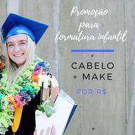 Sua princezinha merece os melhores cuidados nesse dia tão especial, não é mesmo?😍 #make #formatura #ahazou #criancas #promocao