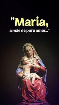"""Maria, com sua pureza imaculada, personifica seu amor de mãe ao Messias; confiada pelo Espírito Santo, vocacionou seus valores mesmo sabendo da perseguição que sofreriam e da árdua missão de seu filho, qual seja, de estender o amor universal a todos os povos da humanidade.""""#AhazouFé #Maria #Mãe  #palavradeDeus  #igreja  #Deus  #orações  #Cristo  #igrejacristã  #féemDeus  #fé  #religiao  #biblia  #JesusCristo"""