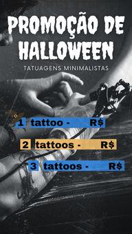 Faça o seu agendamento e garanta o seu desconto nesse Halloween!👻 #AhazouInk #halloween #promoção #desconto #oferta #tattoominimalista  #tattoo  #tatuagem  #estudiodetattoo