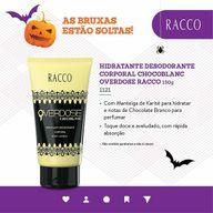 Hidratante Desodorante Corporal Chocoblanc Overdose Racco 150g (1121). #ahazouracco #ahazourevenda