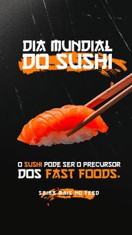 Se você acha que fast food é só hambúrguer, você errooou!🍣🍙 No Japão, no início de 1.800, o sushi se tornou uma espécie de fast food, nesta época que centenas de restaurantes surgiram por lá com a ideia de oferecer comida rápida e produzida em grande escala. O sushi era marinado em molho de soja para garantir a preservação do peixe.   🤤🤤  #ahazoutaste #sushi #curiosidade #preferido #diamundialdosushi  #sushilovers  #comidajaponesa  #japa #fastfood