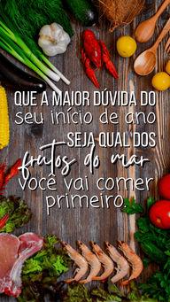 Eu ouvi frutos do mar??   #AhazouTaste #Gastronomia #FrutosdoMar #FinaldeAno