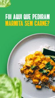 Se foi aqui que pediram, só falta mandar o endereço! 🤤🤤  #ahazoutaste #marmita #marmitaveg #vegetariana  #comidacaseira  #comidadeverdade  #marmitando  #marmitas #semcarne