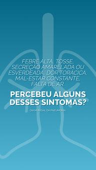 Nesse Dia Mundial da Pneumonia, fique atento aos principais sintomas da doença. Procure atendimento médico o quanto antes se percebeu algum deles para investigação e diagnóstico. #Pneumonia #AhazouSaúde #Dicas