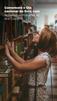 """Não tem companhia melhor para o Dia nacional dos livros do que o """"defuntor autor"""" mais celebrado da literatura nacional.  #AhazouEdu #MachadodeAssis #Dianacionaldolivro #Memoriaspostumasdebrascubas"""