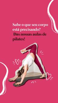 Se livre das dores no corpo e do estresse do dia a dia com nossas aulas de pilates! Aproveite, entre em contato ? (inserir número) e matricule-se já! #pilatesbody #pilates #fitness #AhazouSaude #workout #pilateslovers #auladepilates