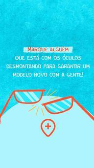 Sabe aquela pessoa que está com os óculos caindo aos pedaços? Marque ele nesse poste para vir nos visitar e garantir um modelo novo! #oticas #otica #oculos #AhazouÓticas #oculosdegrau #marquealguem #marqueumamigo #marqueumaamiga