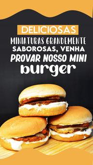 Vai ficar só na vontade de saborear nossos  deliciosos mini burgers? ? #miniburger #ahazoutaste#convite #hamburgueria